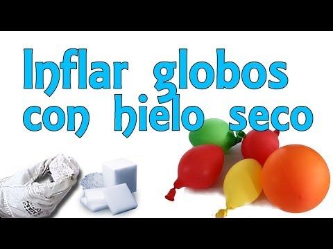 Cómo inflar globos con hielo seco (Experimentos Caseros)