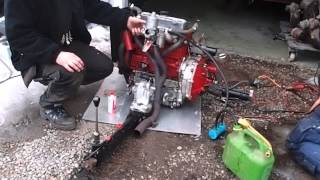 Mini 1000 A series engine startup.