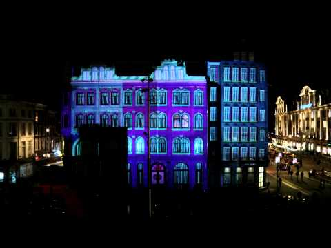H&M Projection on the Dam Square Amsterdam