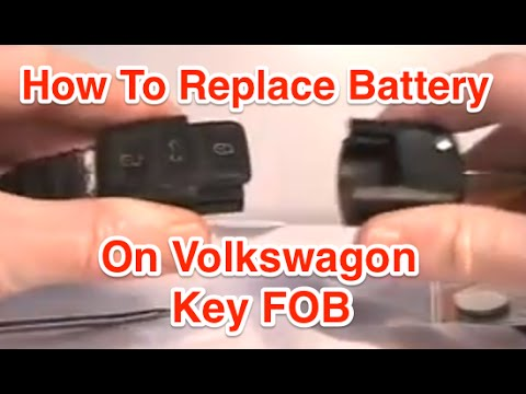 How To Replace Key FOB Battery On VW Jetta