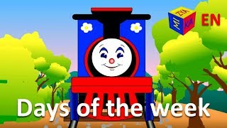 getlinkyoutube.com-Days of the week song with Choo-Choo train. Trains cartoons for children.