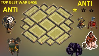 Clash of Clans - Town Hall 9 ( Th9 ) War base 2015 ANTI Gowipe ANTI Lava + Balloon