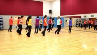 getlinkyoutube.com-Stay All Night - Line Dance (Dance & Teach in English & 中文)