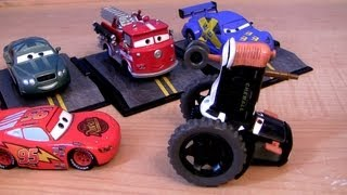Cars Lightning McQueen Prank Tractor Tippin' Metallic Chase Diecast Disney Pixar