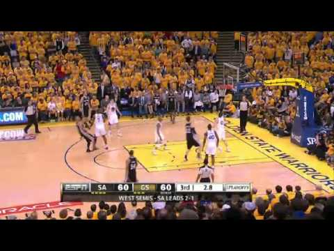 NBA CIRCLE - San Antonio Spurs Vs Golden State Warriors Game 4 Highlights - 12 May 2013 NBA Playoffs