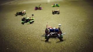 getlinkyoutube.com-Indoor garage drone racing with # SQG. R220 vs Blackout vs Inimini vs MPX vs ZMR / pod racing /