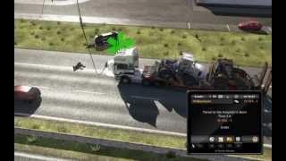 getlinkyoutube.com-Euro Truck Simulator 2 mod Autostop car accident