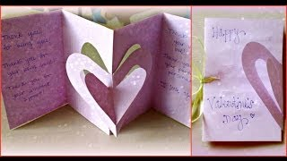 getlinkyoutube.com-*Holiday Crafts*: 3D Hearts Valentine's Day Card!