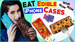 getlinkyoutube.com-DIY Edible iPhone Cases! | EAT Your Phone Case! | How To Make The FIRST Eatable Phone Case!