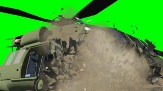 getlinkyoutube.com-Helicopter Crash Effect - Black Hawk - free green screen