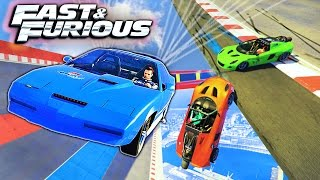 FAST & FURIOUS ROCKETS - NEW CUSTOM SPECIAL VEHICLE RACES - GTA 5 Funny Moments & Epic Fails