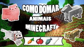 getlinkyoutube.com-Como Domar,Lobo,Cavalo,Porco,Jaguatirica no Minecraft