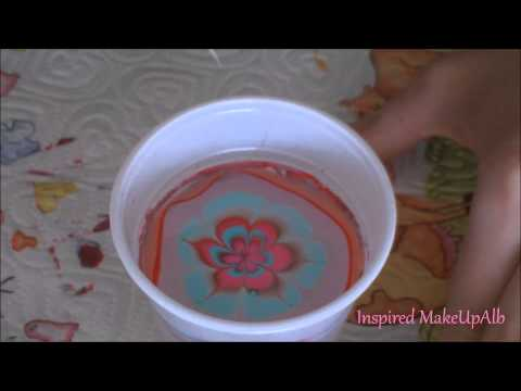 Nail Art Water Marble (Albania)