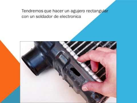 Como reparar el radiador del coche