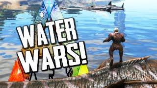 getlinkyoutube.com-Ark Survival Evolved | WATER WARS! | Plesiosaur / Megalodon Troops | Gameplay 1080p HD