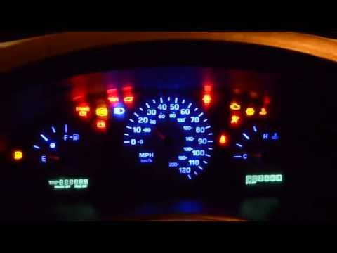 Подсветка панели приборов Додж Караван Dodge Caravan 2002 2,4L