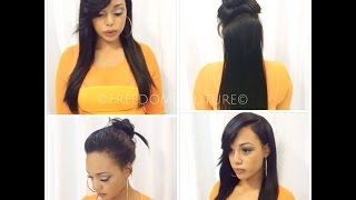 getlinkyoutube.com-❤️YAY! 2 Part Vixen Weave Install ( My First time doing it  ) ❤️
