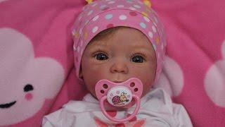 getlinkyoutube.com-Распаковка куклы реборн Livia Beautiful Reborn Baby Doll Box Opening!!