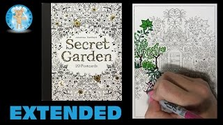 Secret Garden by Johanna Basford Adult Coloring Book Postcards Tree House Extended Family Toy Report