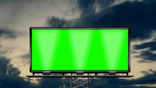 getlinkyoutube.com-billboard in the rainy cloud 02 in green screen free stock footage