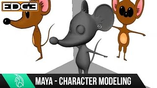 Maya Character Modeling Tutorial - Cartoon Mouse HD #4
