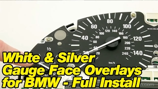 getlinkyoutube.com-White & Silver Gauge Face Overlays for BMW - Full Install