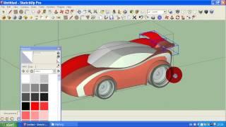 getlinkyoutube.com-how to make simple car in Google Sketchup tutorial 2
