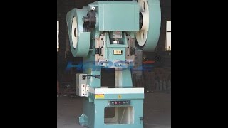 getlinkyoutube.com-automatic power press machine, punching machine with the feeder for making the hole