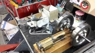 getlinkyoutube.com-Home made steam engine.