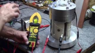 getlinkyoutube.com-Gerard Morin: Demonstration of a High frequency Generator that is Iron Free with Massive Volt output