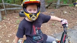 getlinkyoutube.com-Ssr 110 DX test ride @ New house Dirt bike track ideas for back yard