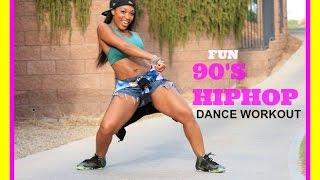 getlinkyoutube.com-FUN HipHop Dance workout (90's) with Keaira LaShae