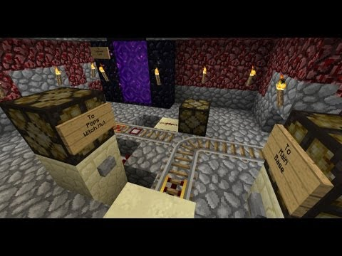 Minecraft PSW Adventures S3 Ep #20 - Nether Rail to Pops Witch Hut! (HD)