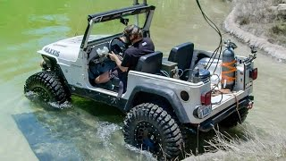 getlinkyoutube.com-Diesel Jeep Drives 12 Feet Underwater! - Dirt Every Day Ep. 54