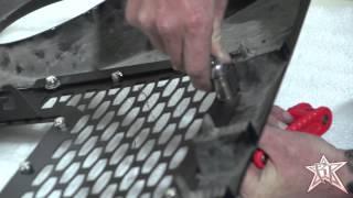 getlinkyoutube.com-Rigid Industries 2007-2016 Jeep JK/Wrangler Grille Installation #40591