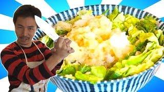getlinkyoutube.com-【男の文化包丁】豚と白菜のミルフィーユ鍋 さらに簡単に作る方法