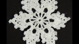 getlinkyoutube.com-Crochet : Copo de Nieve # 2