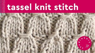 getlinkyoutube.com-How to Knit the TASSEL STITCH - Perfect for Grads!
