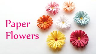 DIY crafts: PAPER FLOWERS (daisies) - Innova Crafts