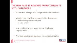 IFRS Webinar Series - Overview of the New IFRS 15 Revenue from Contracts with Customers