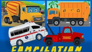 getlinkyoutube.com-COMPILATION | Cars And Heavy Vehicles | kids videos | learn street vehicles