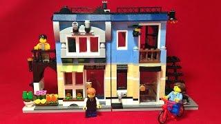 getlinkyoutube.com-레고 크리에이터 꽃가게 31026 자전거샵과 카페 3in1 블럭 조립기 LEGO Creator Bike Shop&Cafe flower shop