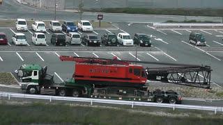 getlinkyoutube.com-クローラークレーン本体部を積載した大型トレーラー