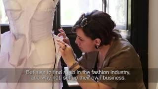 getlinkyoutube.com-Haute Couture embroidery school. Rome-Milan. Corsi pratici Moulage e ricamo d'Alta moda.