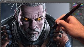 getlinkyoutube.com-GERALT of RIVIA - Speed Painting (The WitcheR 3: Wild Hunt)