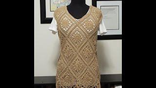 getlinkyoutube.com-Crochet: Blusa Romina