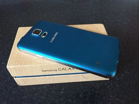 Samsung Galaxy S5 Electric Blue Unboxing UK