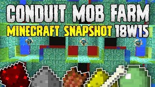 Minecraft 1.13 CONDUIT MOB FARM?   Snapshot 18W15   Concept Build