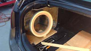 Lexus GS Fiberglass Subwoofer Box PART 1