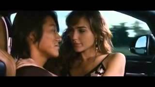 Asian guy white girl kiss in high speed. Han and Gisele